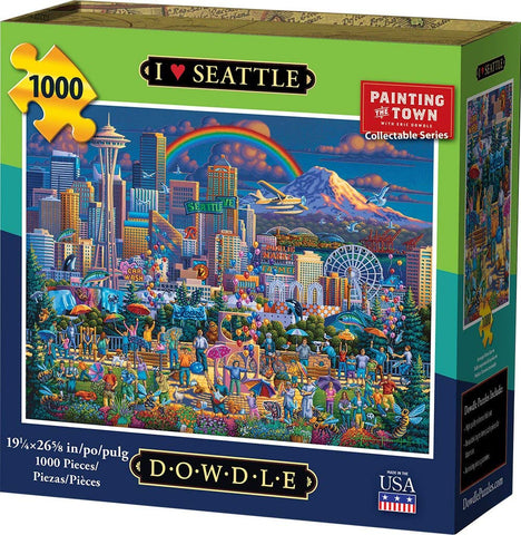 Dowdle Jigsaw Puzzle - I Love Seattle - 1000 Piece