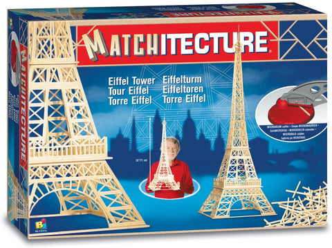Bojeux Matchitecture Wood Microbeam Construction Set - Eiffel Tower