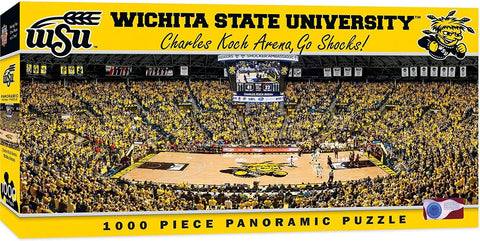 NCAA Wichita State University Charles Koch Arena Shockers Basketball Panoramic Puzzle, 1000-Piece