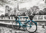 Educa 18482 Serie Coloured B&W Puzzle 500 Pieces Bike Near Notre Dame