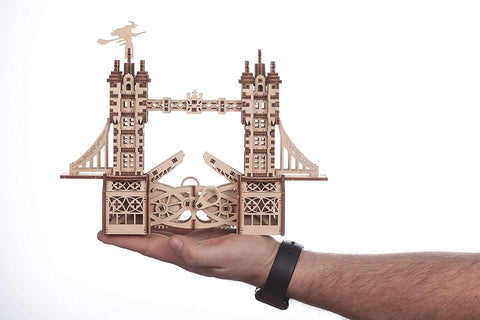 Wise Elk Tower Bridge Small Wooden Mechanical 3D Puzzle