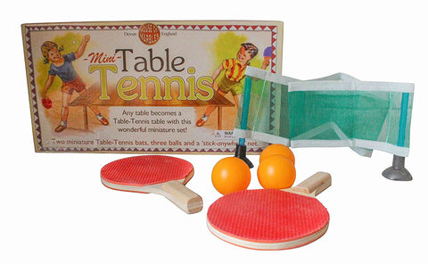House of Marbles Miniature Table Tennis Ping Pong Set for Kids - Paddles, Balls and Net