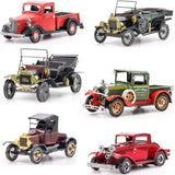 Fascinations Metal Earth 3D Metal Model Kits Ford Set of 6 - 1908 Model T Dark Green - 1910 Model T - 1931 Model A - 1932 Coupe - 1937 Pickup - 1925 Model T Runabout