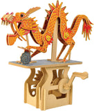 Clockwork Dreams Automata Kit - Storybook Series - Mini Moving Mechanical Wood Machine Kit (The Dragon on the Cloud)
