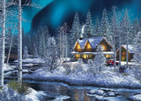 MasterPieces Holiday Jigsaw Puzzle - Northern Lights 500-Piece Glitter Puzzle