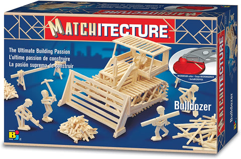 Bojeux Matchitecture Wood Microbeam Model Construction Set - Bulldozer