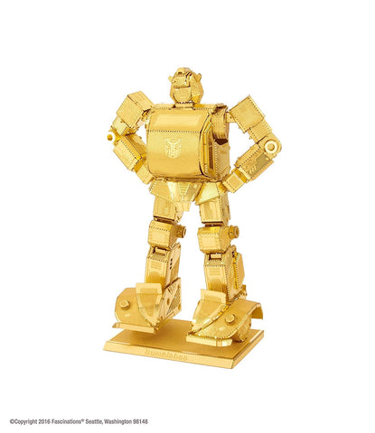 Metal Earth 3D Laser Cut Model - Transformers Bumblebee Gold Edition
