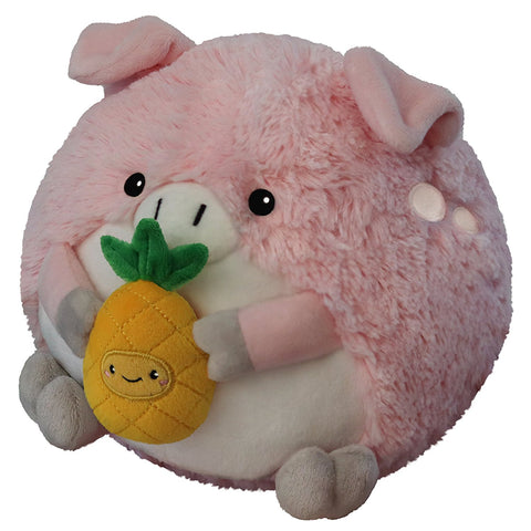 "Squishable - Mini Pig Holding a Pineapple - 7"" Plush"