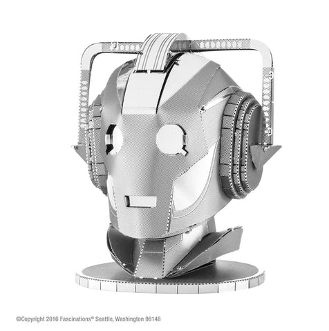 Fascinations Metal Earth Doctor Who Cyberman Head 3D Laser Cut Model