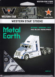 Fascinations Metal Earth 3D Laser Cut Model - Western Star 5700XE Truck