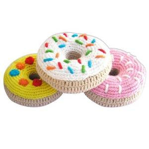 Cheengoo Handmade Organic Donut Rattles - Set of 3