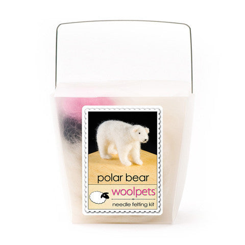 WoolPets Wool Needle Felting Kit - Polar Bear