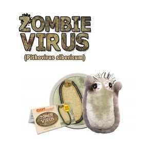 Giant Microbes Zombie Virus (Pithovirus sibericum) Educational Plush Toy Science Kit