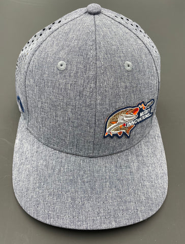 Grey hat with one side color logo, ultra fit