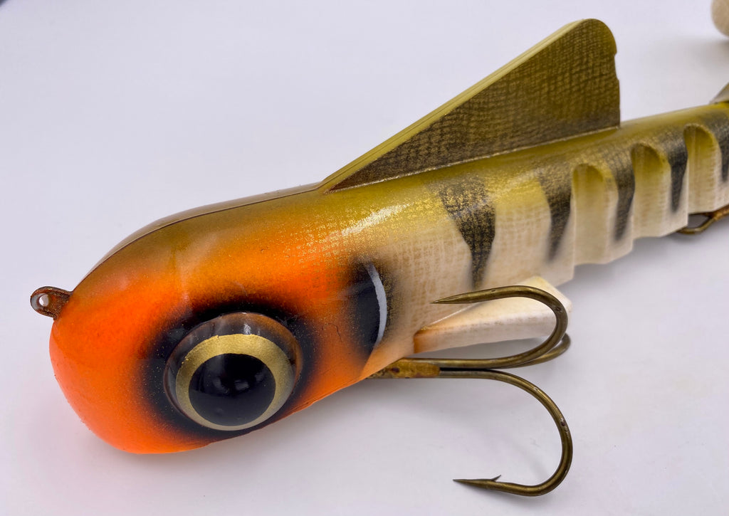 Custom Shallow Magnum Bull Dawg Ultra Flash Orange Head Perch