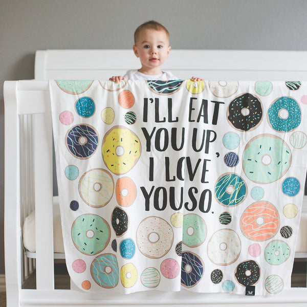 """Donut Love"" Organic Cotton Knit Blanket"