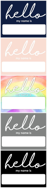 """HELLO"" Name Sticker"