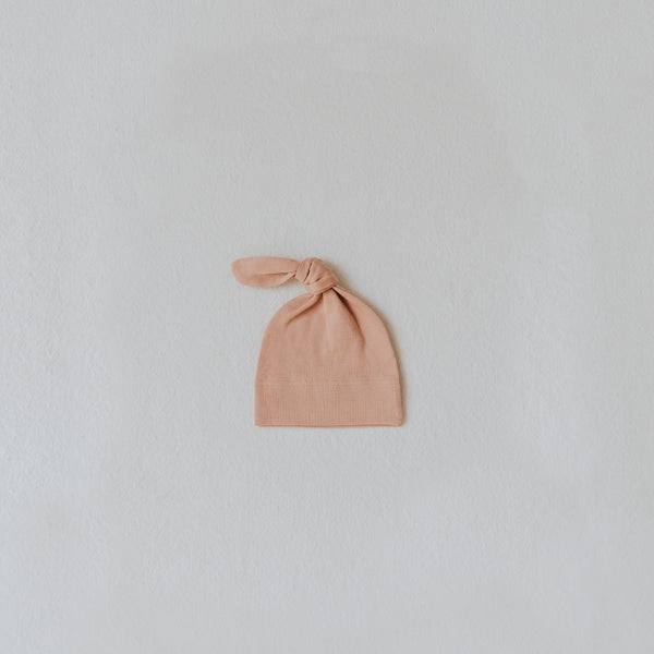 Top Knot Beanie - Blush