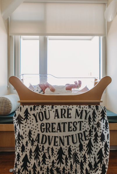 """Greatest Adventure"" Organic Cotton Knit Blanket"
