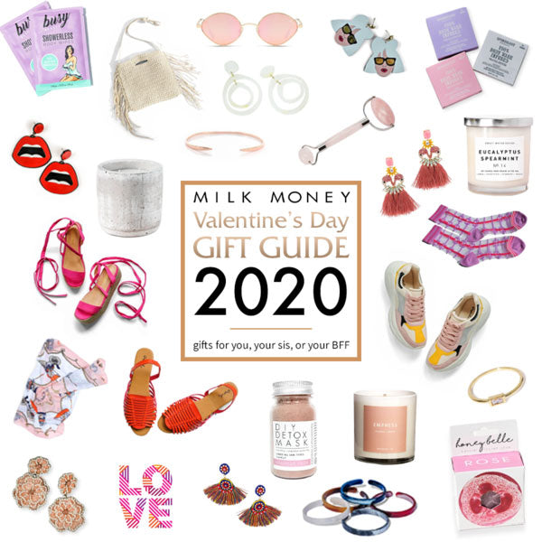 a selection of cute Valentine's Day gifts and ideas from Milk Money