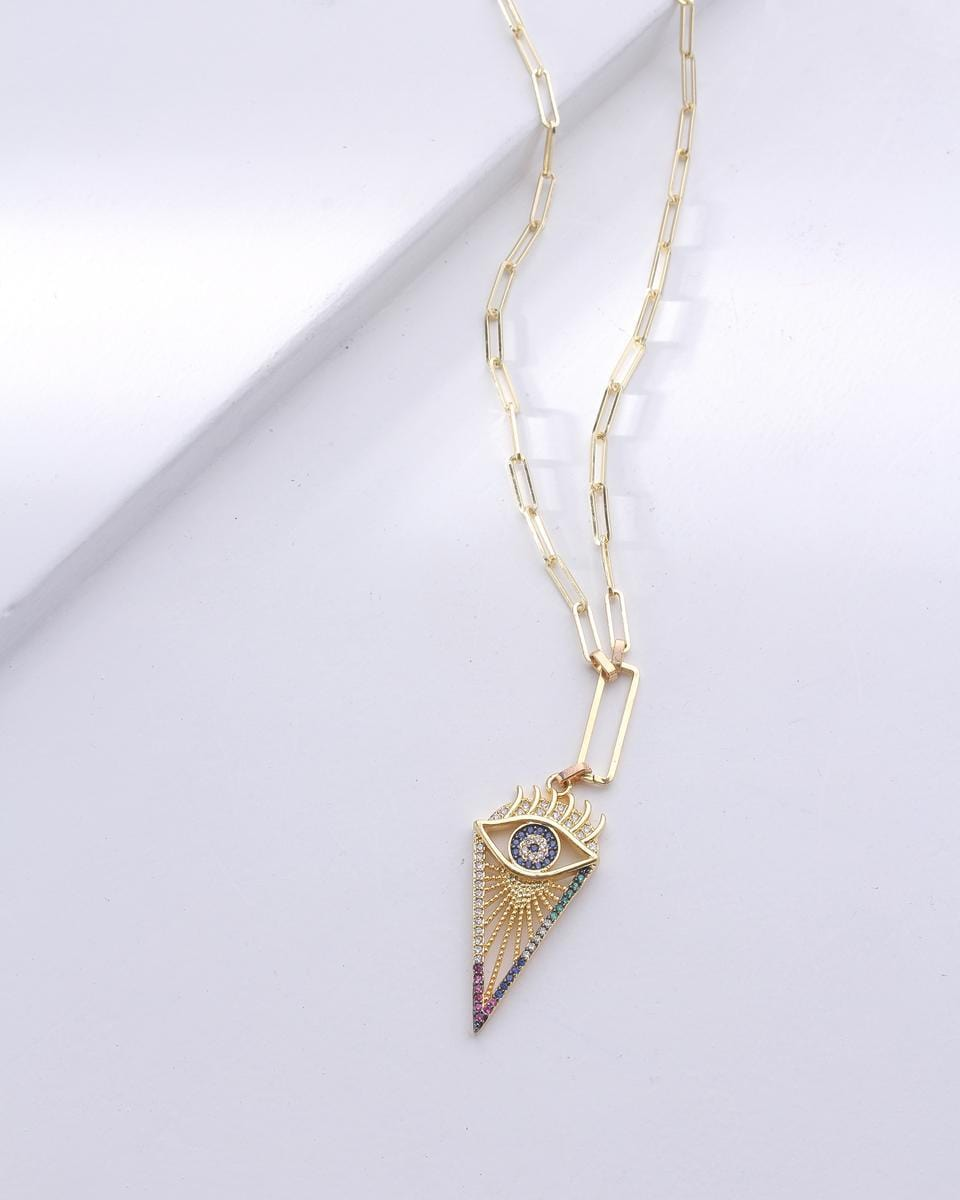 Founded Evil Eye Necklace