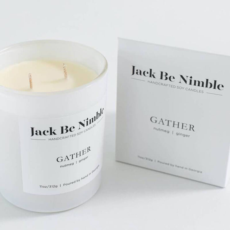 11oz Gather Soy Candle white box MILK MONEY