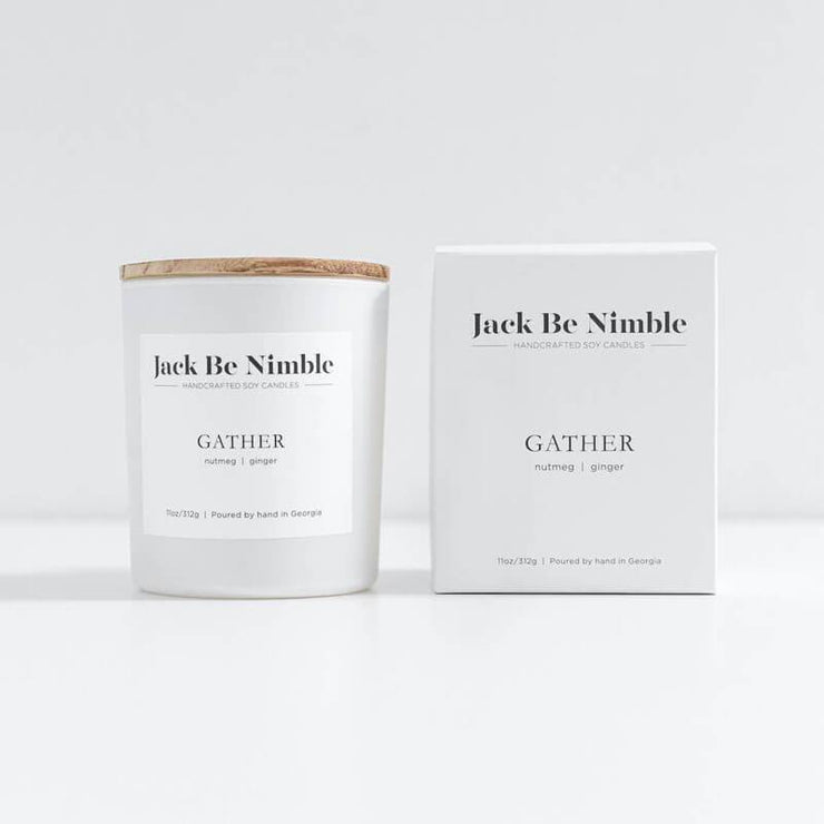 11oz Gather Soy Candle double MILK MONEY