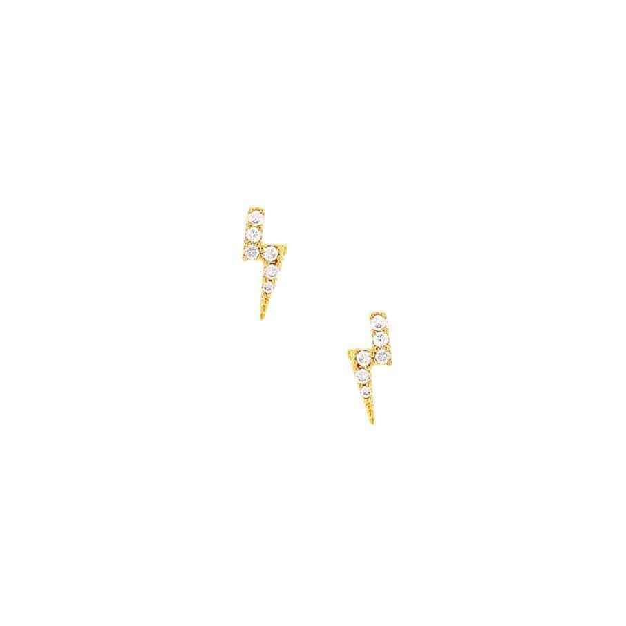 Lighting Bolt Stud Earrings
