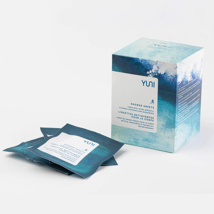 Shower Sheets Large Natural Biodegradable Body Wipes by YUNI - MILK MONEY