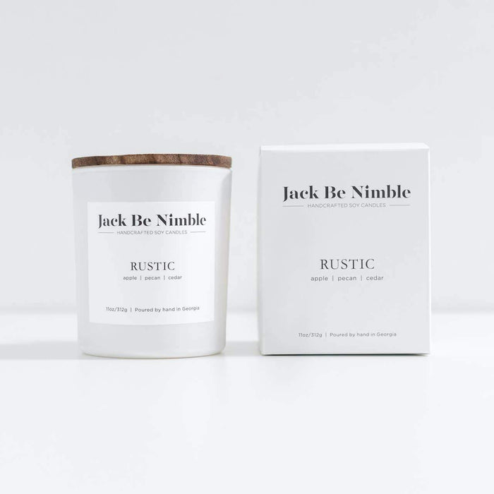 Rustic Soy Candle by Jack Be Nimble box MILK MONEY