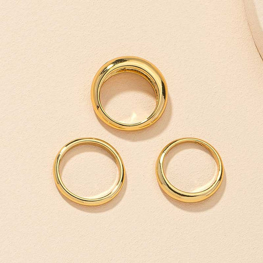 Aiden 3 piece Ring Set gold top | MILK MONEY milkmoney.co | They are simple, cute, and fashionable. It is a good gift for your friend or won't hurt your wallet. Free Shipping and Returns.