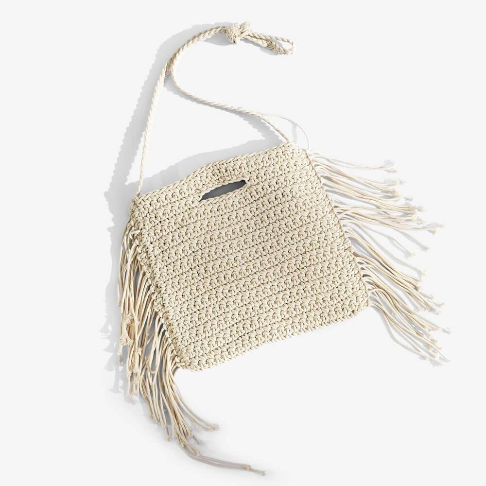 Alexis Woven Festival Crossbody Bag White - MILK MONEY