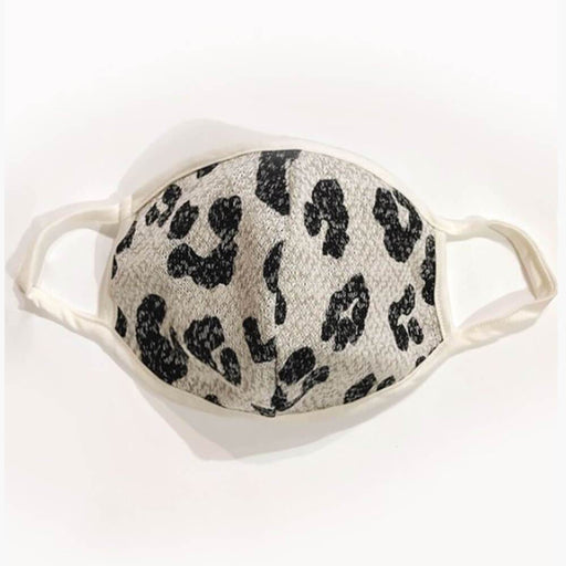 Animal Print Protective Face Mask with Filter Pocket  grey MILK MONEY
