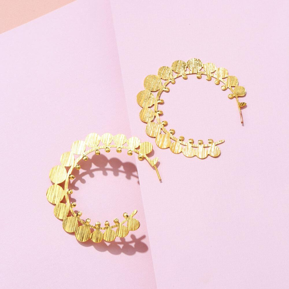 Anna Gold Circle Hoops Earrings MILK MONEY