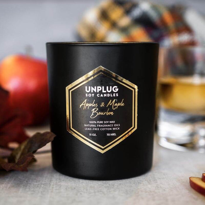 Apples & Maple Bourbon Midnight Collection Soy Candles