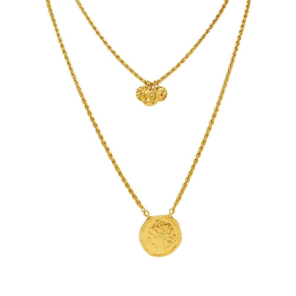 Aria 2 Piece Gold Coin Necklace Set MILK MONEY