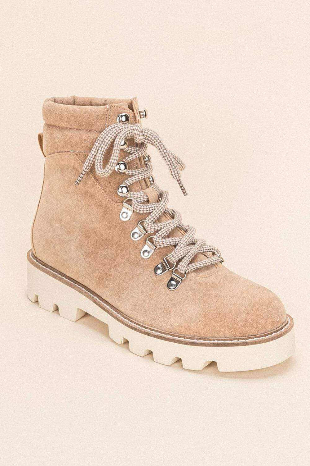 Arlene High-Top Lace Up Boot khaki MILK MONEY