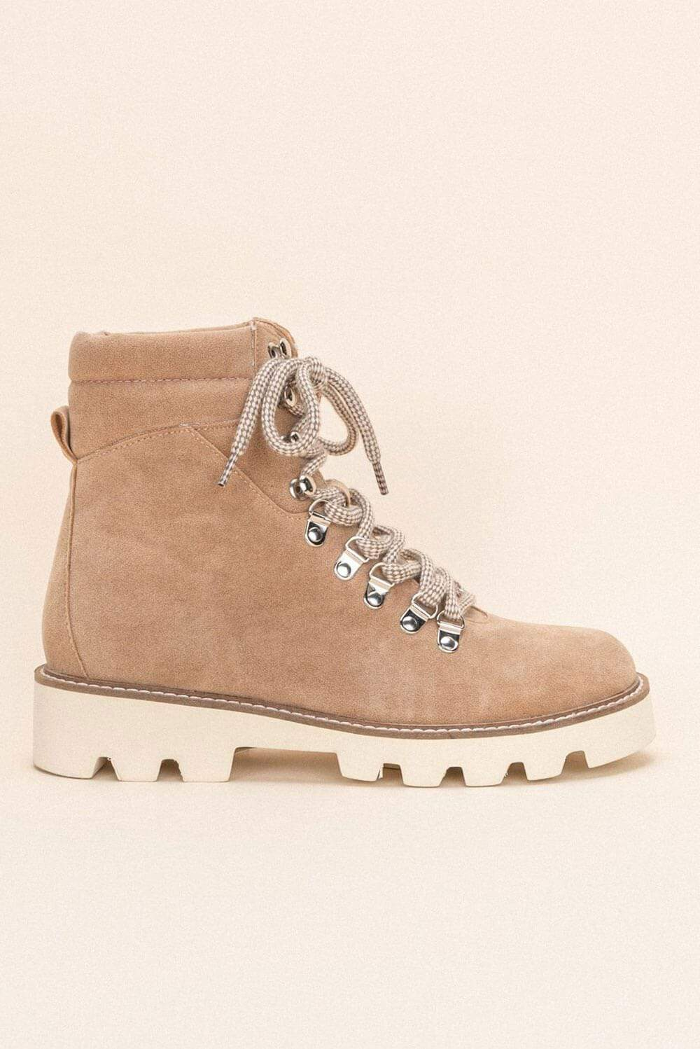 Arlene High-Top Lace Up Boot khaki side MILK MONEY