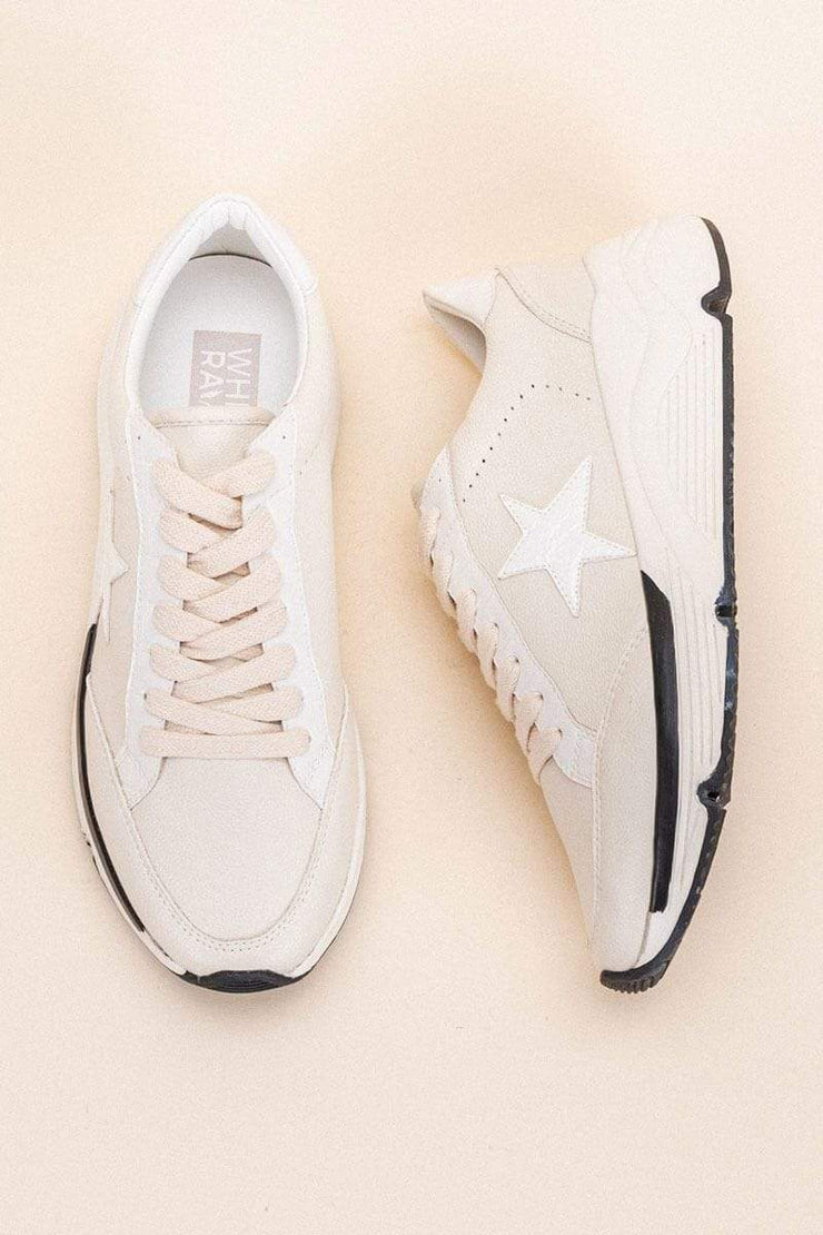 Avery Star Platform Sneaker off white front MILK MONEY