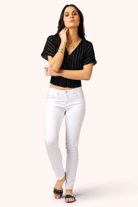 Bella Bella Skinny Ankle Jeans white MILK MONEY