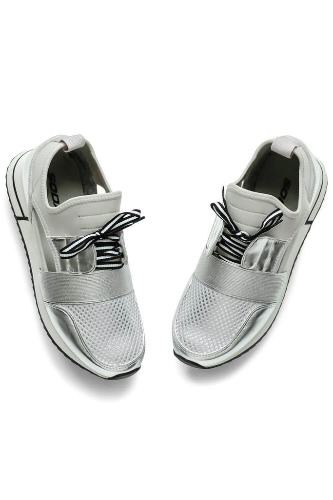 Bella Street Sneaker Silver - MILK MONEY