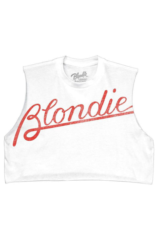 Blondie Crop Graphic Top white front | MILK MONEY milkmoney.co This Blondie tee is perfect for any Blondie fan. The Blondie crop top is a must have item for this summer.