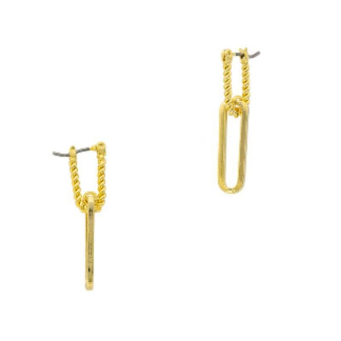 Braided Paperclip Earrings gold MILK MONEY