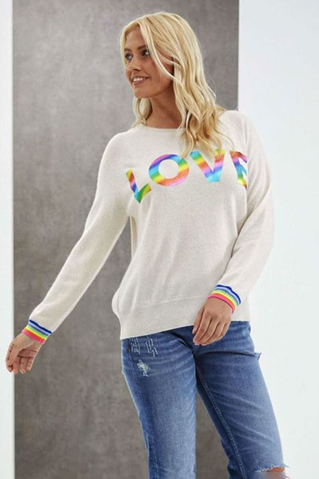 Brodie Cashmere Love Foil Sweater