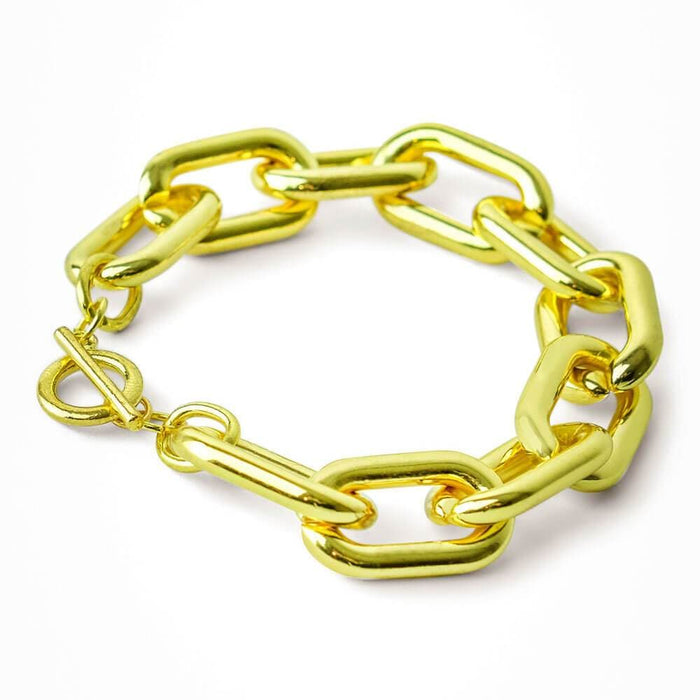 Brooke Gold Chain Link Bracelet Back - MILK MONEY