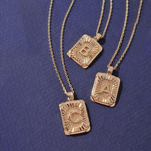Burst Initial Charm Necklace gold MILK MONEY