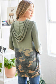 Camo Ombre Long Hoodie olive back MILK MONEY
