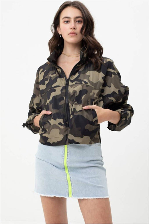 Camo Windbreaker Jacket olive MILK MONEY