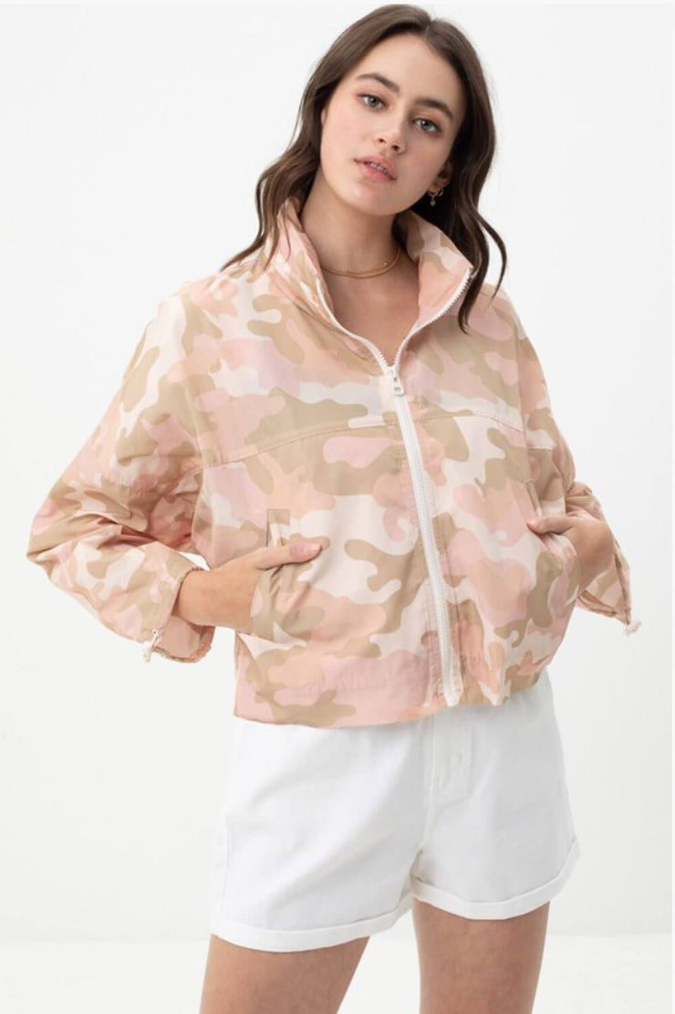 Camo Windbreaker Jacket pink MILK MONEY