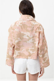 Camo Windbreaker Jacket pink back MILK MONEY